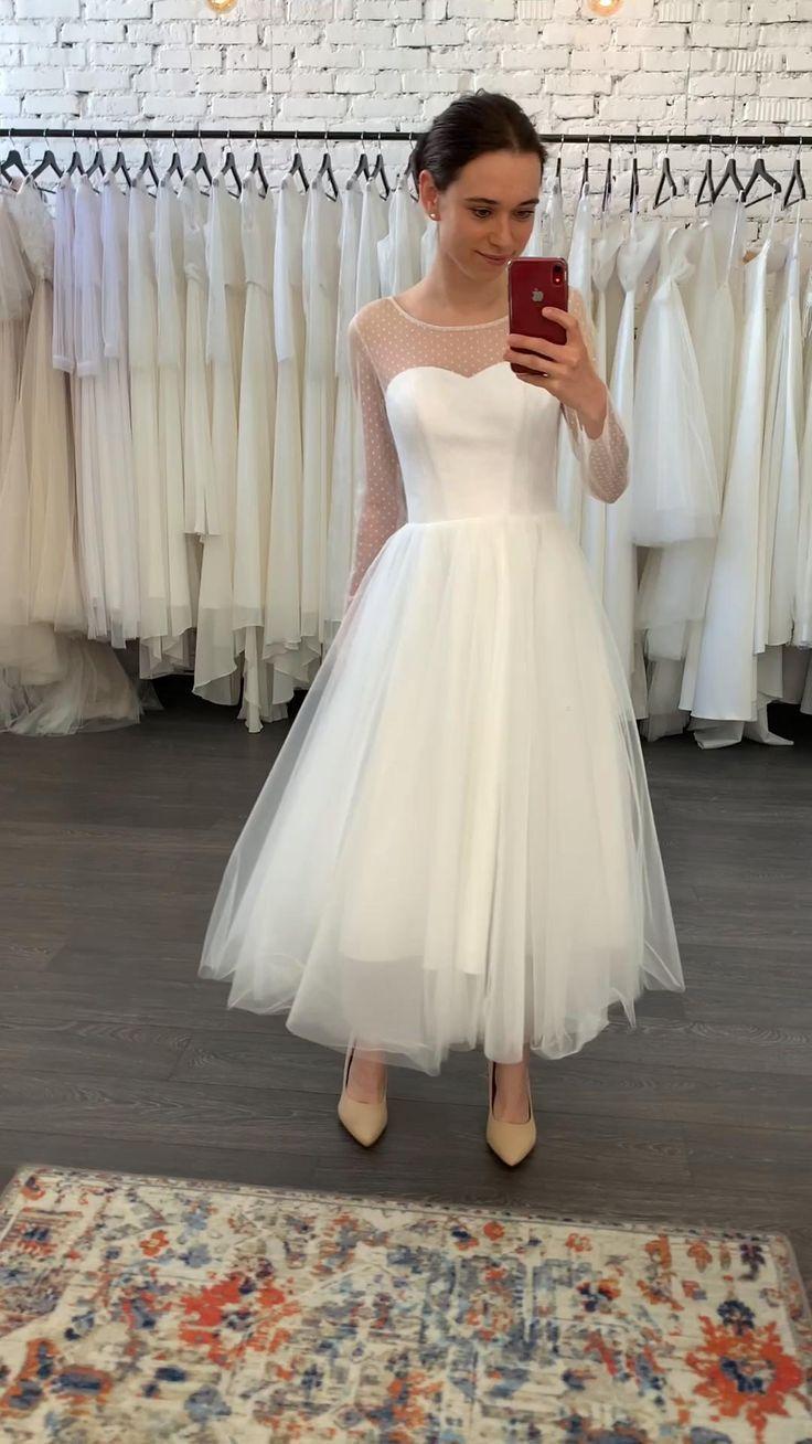 Tea Length Wedding Dress 60s Wedding Dress Simple Wedding Etsy Civil Wedding Dresses Midi Wedding Dress Short Wedding Dress [ 1308 x 736 Pixel ]