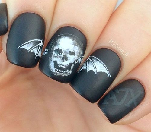 I am presenting before you 15 Halloween bat nails art designs & ideas of  2016 that you will love to apply, don't settle for big salons, try these nail  art - 38 Best Halloween Bat Nail Art Images On Pinterest Halloween