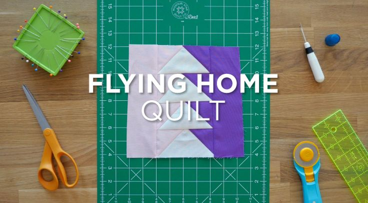 Check out this quick way to make the Flying Home Block