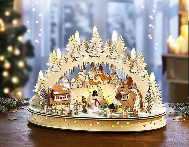 Fenster Leuchter Lichterbogen Dorf Schwipbogen Weihnachten Deko Fensterdeko