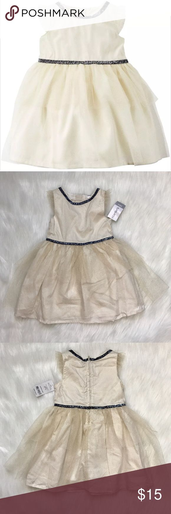 Selling this New Carter's Baby Girl Glitter Tulle Tiered Dress on Poshmark! My username is: cottonswap25. #shopmycloset #poshmark #fashion #shopping #style #forsale #Carter's #Other