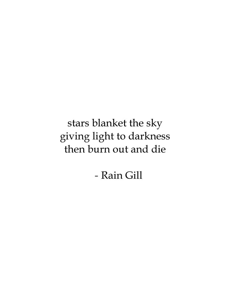 poem by Rain Gill