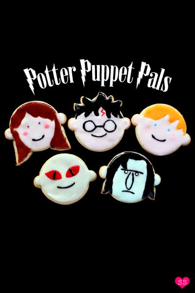 Potter Puppet Pals cookies - this site has great cookie ideas!Cookies Ideas, Sugar Cookies, Pals Cookies, Potter Puppets, Potter Cookies, Creative Cookies, Cookies Details, Harry Potter, Puppets Pals