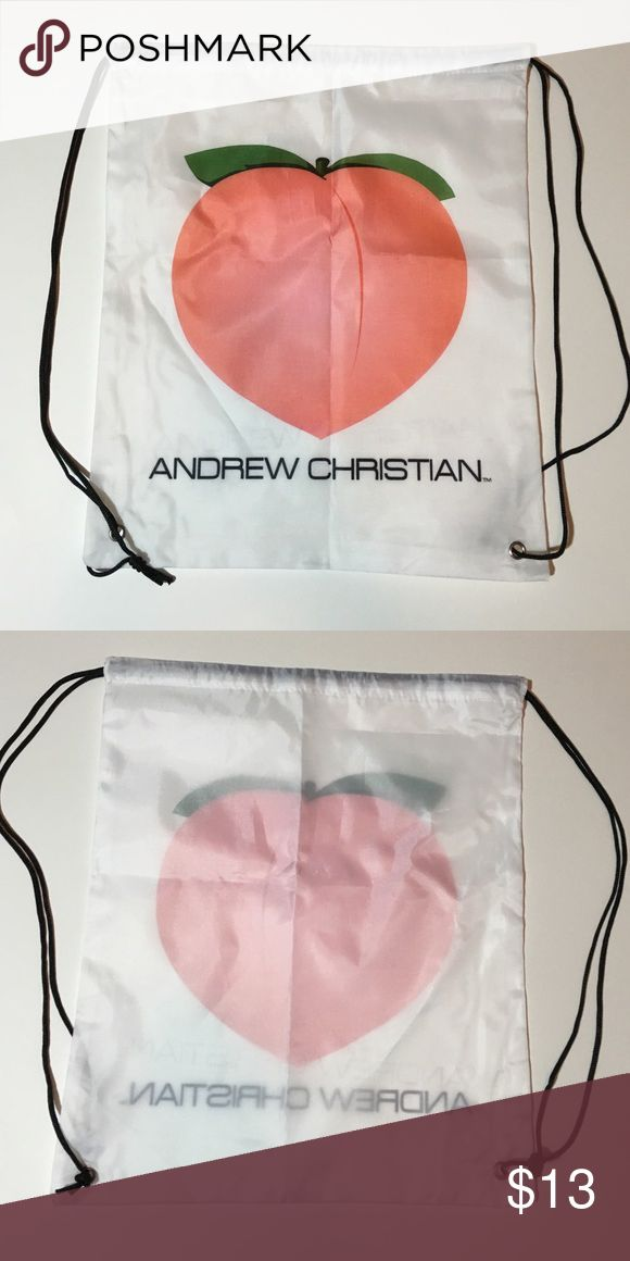 SALE!! BNWOT Andrew Christian 🍑 🍑 Drawstring Bag This cinch/drawstring bag from Andrew Christian is brand new without tags. In perfect condition and perfect for spring break! 🍑🍑 Andrew Christian Bags
