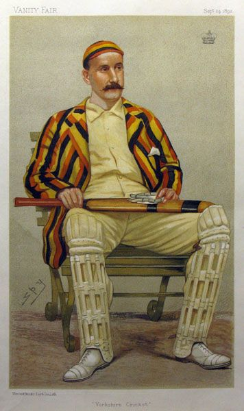 """Yorkshire Cricket"" [Lord Hawke] by Spy [Sir Leslie Ward]"