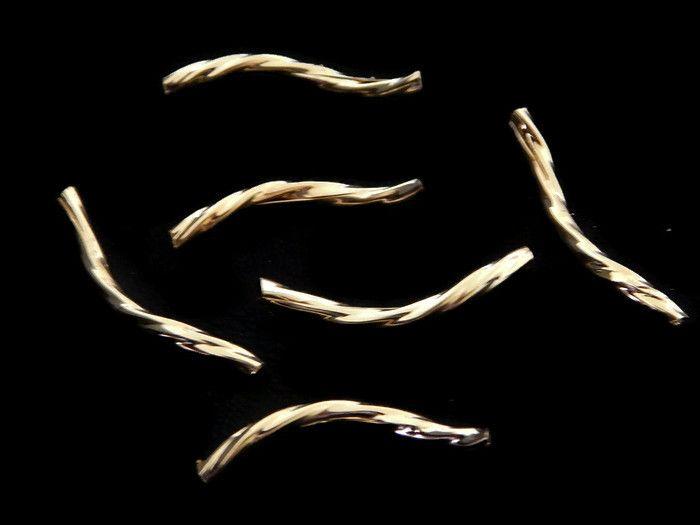 TTDO2015-1 Tubo Torcido diamantado en chapa de oro de 14k, medida 3 cm de largo, precio x gramo $3.50 pesos, precio medio mayoreo (100 gramos)$3.30, precio mayoreo (250 gramos)$3.10, precio VIP(500 gramos) $2.90 (cada tubo pesa 1.3 gramos)