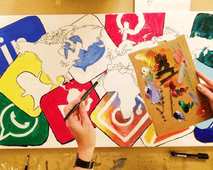 """mhoch3 teambuliding """"Painting"""" #painting #socialmedia #mhoch3 #teambuilding"""