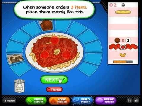 Papas Pastaria - Game Play
