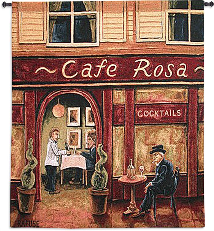 Cafe Rosa Wall Tapestry