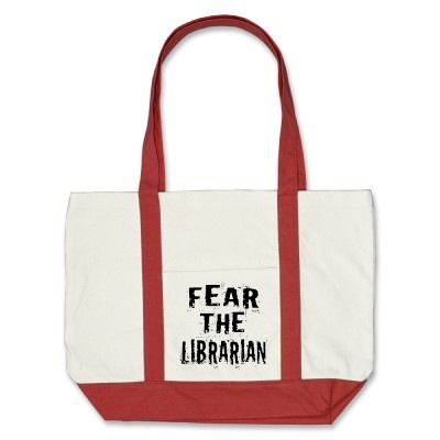 Fear The Librarian Tote Bag by booklovergifts