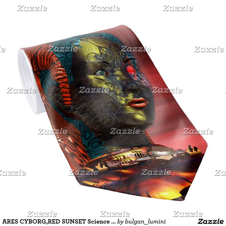 ARES CYBORG,RED SUNSET Science Fiction,Sci-Fi Tie