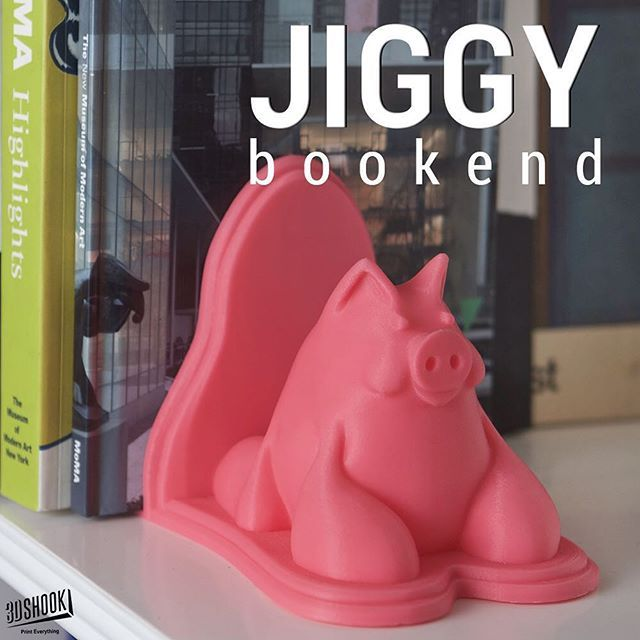 """@3dshook's photo: """"Our cute and unique looking bookend - Meet Jiggy.  Check us out at www.3dshook.com #3dprint #3dmodels #3dprinted #3dprinter #3dprinters #3dprinting #makers #makersgonnamake #PrintEverything #tech #3dshook #booklover #books  #kidsroom #education #school"""""""
