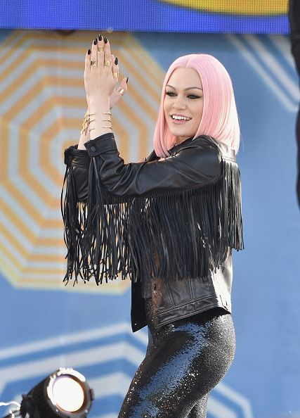"Jessie J has some fun during a performance on ""Good Morning America"" on May 22 in New York"