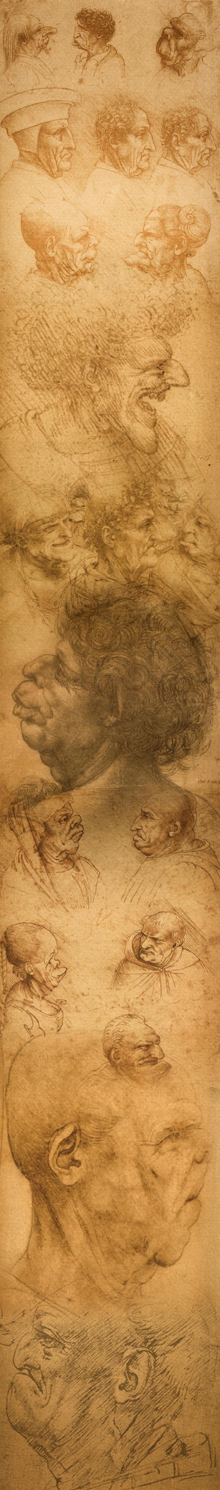 Léonard de Vinci - Panoramique vertical de certaines œuvres
