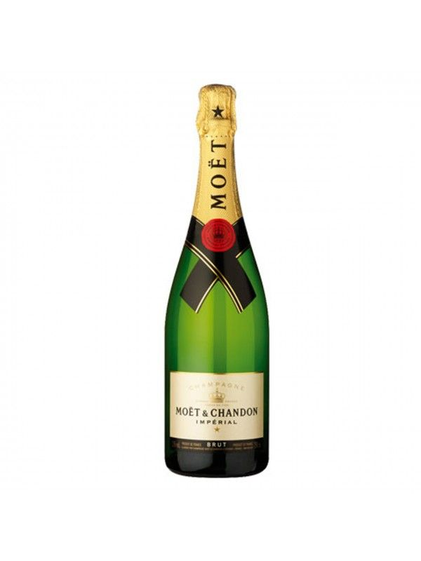 Moet et Chandon Brut Imperial Chardonnay | AWM Buy Wine Online in UK.  Perhaps the best known Champagne, the Brut Imperial from Moët embodies their house style: crisp and clean, this classic Champagne shows citrus aromas and hints of biscuity flavours. An excellent apéritif.