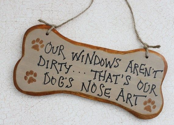 Funny Bone Shaped Sign Our Windows Aren't Dirty by GreenGypsies