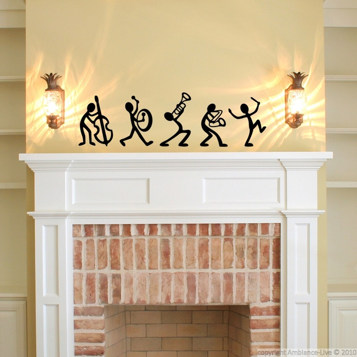 These Jazz Band Music #wall #decals Can Give You Ideas For Decorating. #
