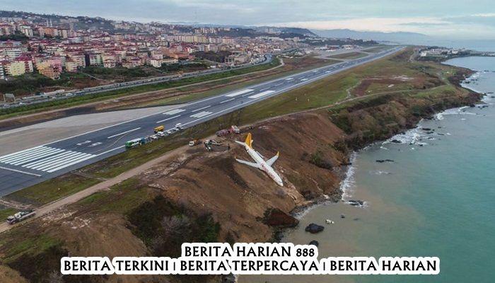 Pesawat Turki Mendarat Dengan Salah
