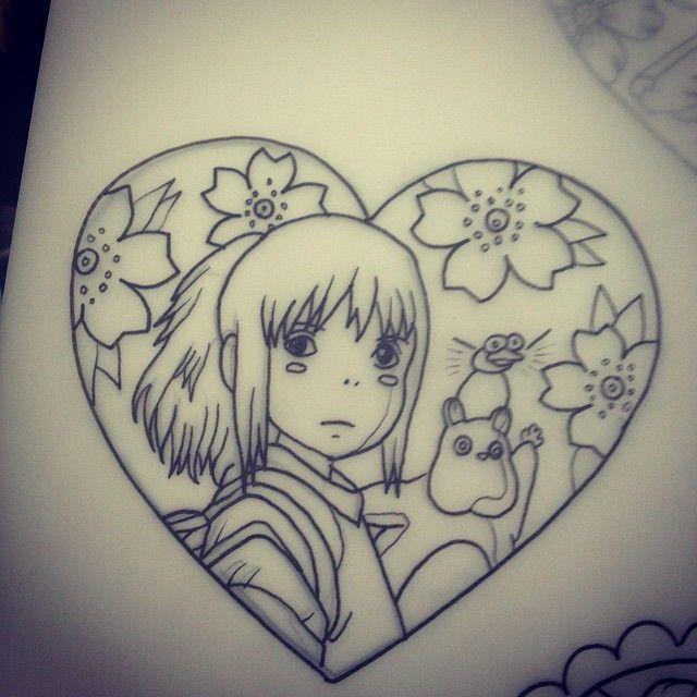Line Art Tattoo Artists Near Me : Best miyazaki tattoo ideas on pinterest studio