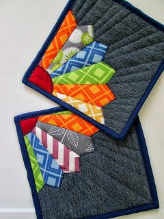 The Running Stitch  quilted hot pads.  I think they would be wonderful coasters.