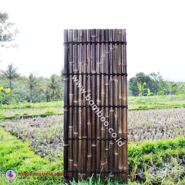 Black Bamboo Half Raft Panel, BAMBOO PANELS, BAMBOO PANEL AND BAMBOO SCREEN, BAMBOO PANELS, BAMBOO FENCE PANEL,BAMBOO SCREEN AND BAMBOO SCREENING, Bamboo and Framed Panels