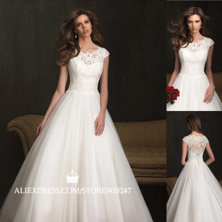 Turtleneck Wedding Dress: Free Shipping Stylish Elegant Wedding Dress Lace Corsets