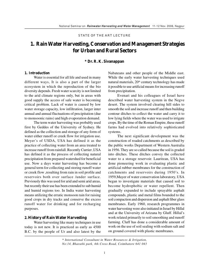 save water - essay The above mentioned title would look old fashioned and well known but if you look in to this issue you would understand how true i am and how.