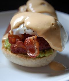 Cassie Craves: Avocado Eggs Benedict with Chipotle Hollandaise