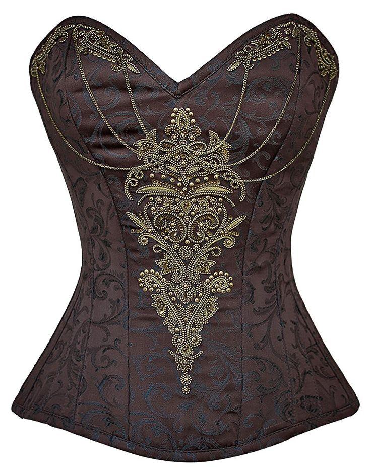 The Violet Vixen - Gilded Chalices Steampunk Corset, $159.00 (http://thevioletvixen.com/authentic-corsets/gilded-chalices-steampunk-corset/)