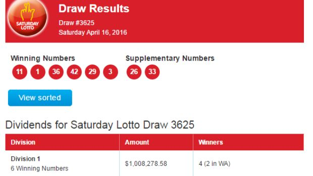 Saturday Lotto: two WA players score $1 million prizes...: Saturday Lotto: two WA players score $1 million prizes… #SaturdayLotto