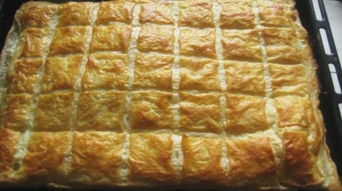 Этот слоеный пирог, как хачапури. Рецепт быстрого слоеного теста + вкуснейшая начинка из сыра!