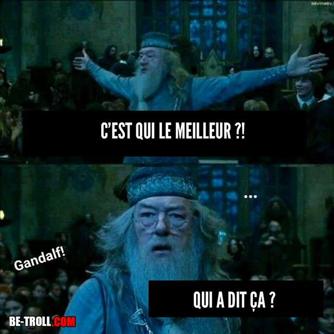 Gandalf > Dumbledore - Be-troll - vidéos humour, actualité insolite