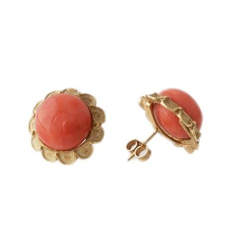 Orecchini in Corallo Rosso e Oro Giallo 18k £670