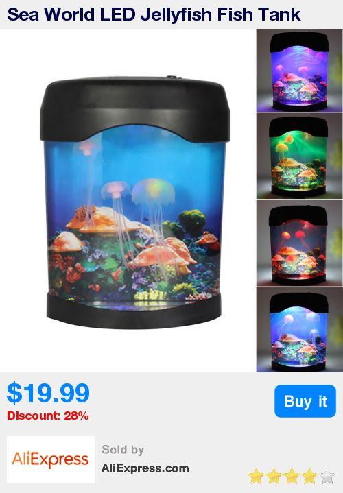 Sea World LED Jellyfish Fish Tank Aquarium Lamp Nightlight Light Multicolor Aquarium Accessories * Pub Date: 12:44 Apr 12 2017