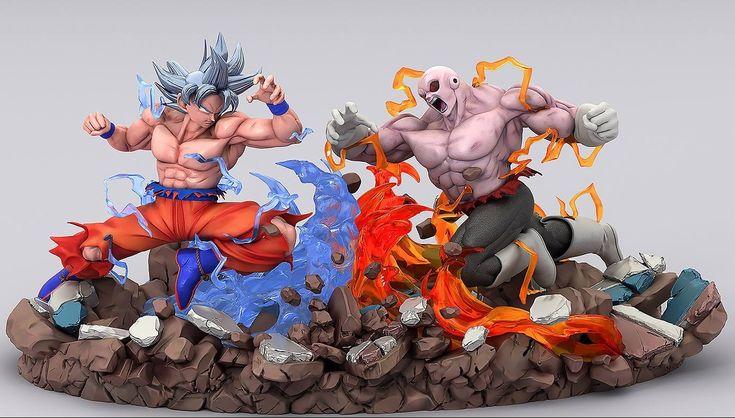Goku Migatte Kansei Vs Jiren Figuras De Goku Figuras De Anime Personajes De Dragon Ball