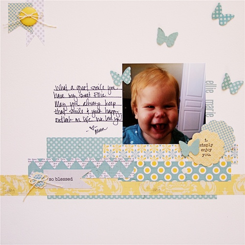 Fun layout by Ashley Harris using Lily Bee Design Buttercup.
