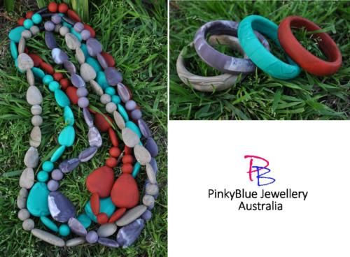 Price: $26.00 http://www.ebay.com.au/itm/Silicone-Necklace-Bangle-Set-Funky-Fashion-Jewellery-Chunky-Beads-/252243498244?ssPageName=STRK:MESE:IT
