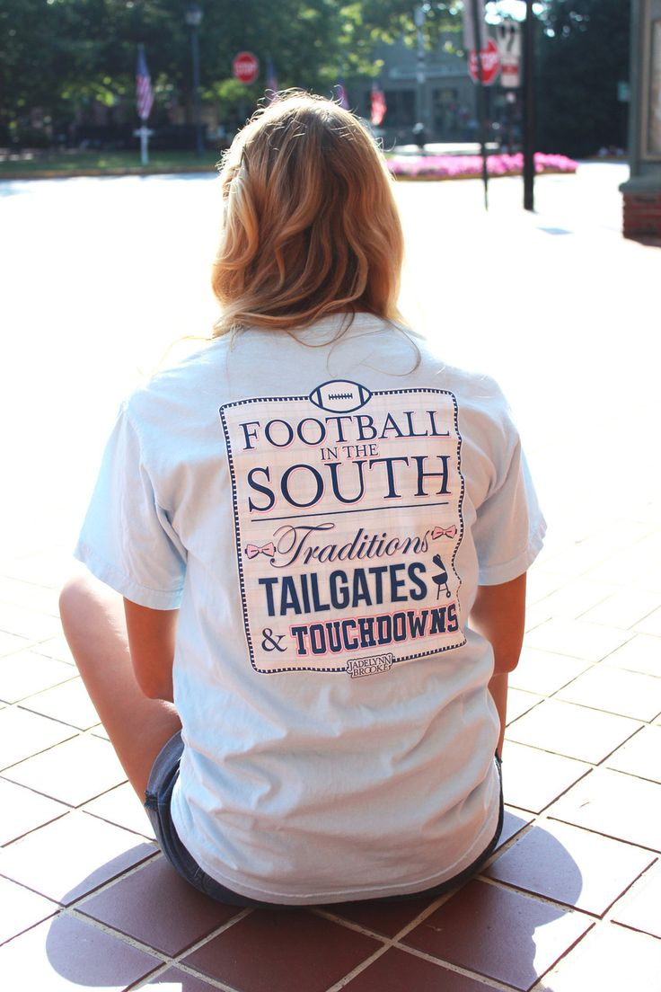 Jadelynn Brooke Football in the South Short Sleeve Tee - Memento - Personalized Monogrammed Gifts