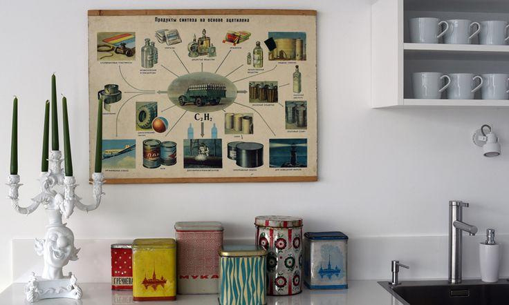 """Декоратор и дизайнер Анна Эрман, постоянный автор рубрик """"Путешествия"""" и """"Шопинг"""", посетила Измайловский рынок и показала нам находки, которые украсили один из недавних ее проектов."""
