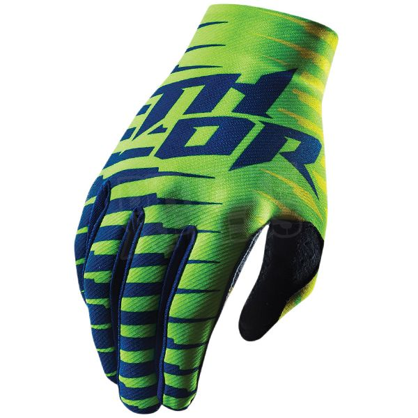 2015 Thor Void Plus Gloves - Rift Lime   Available at www.dirtbikexpress.co.uk
