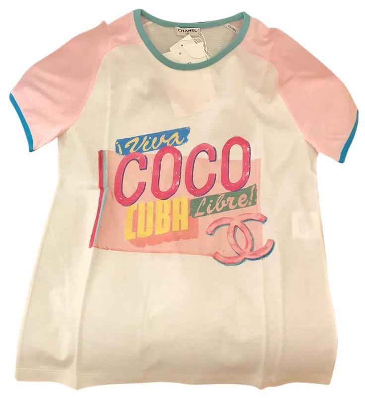 Chanel Runway 2017 Coco Cuba Pink Short Sleeves T Shirt Pink/White. Free shipping and guaranteed authenticity on Chanel Runway 2017 Coco Cuba Pink Short Sleeves T Shirt Pink/WhiteBrand New with Tags Chanel Runway Cruise 2017 Coc...