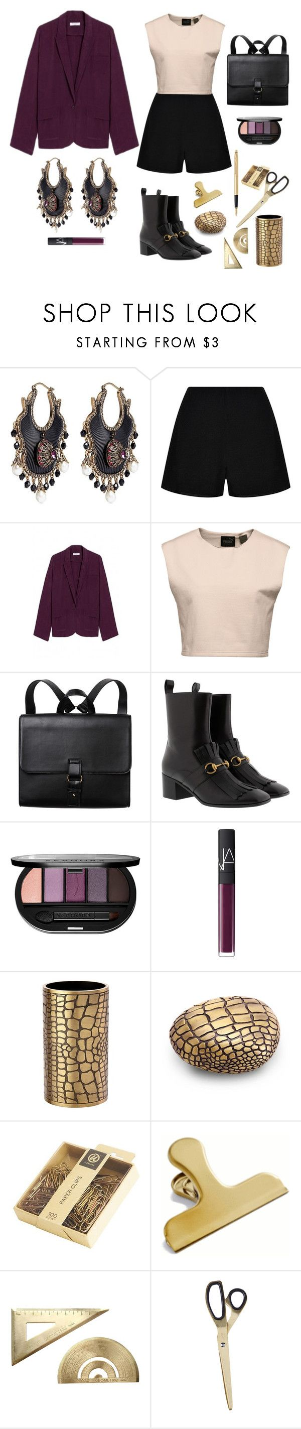 """Casual Friday"" by loveleelove ❤ liked on Polyvore featuring Alexander McQueen, Reiss, Equipment, Puma, Monki, Gucci, Sephora Collection, NARS Cosmetics, L'Objet and Fountain"