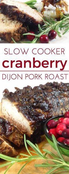 Slow Cooker Cranberry Crusted Dijon Pork Loin | Recipe | Cranberries ...