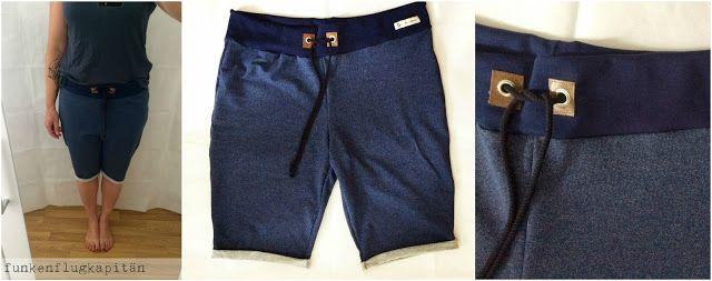 Shorts oder Bermudas aus Sommersweat nähen.