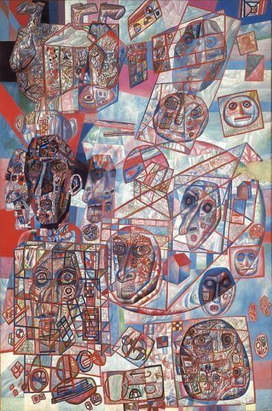 ¤ Pavel Filonov  (Russian painter, 1883-1941)