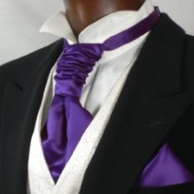 Cadbury's Purple Cravat & Matching Hankie.