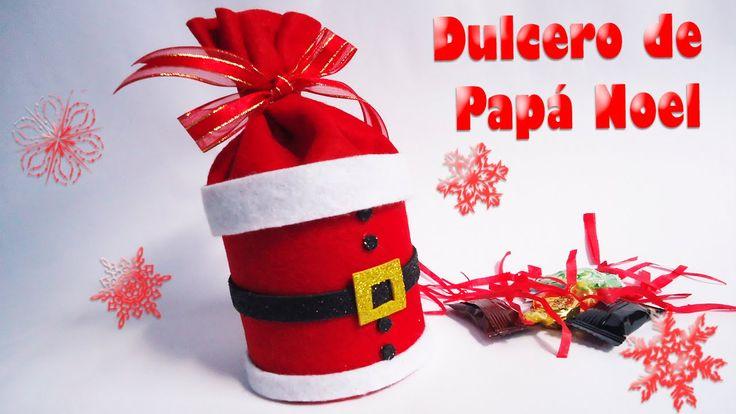 Dulcero de Papa Noel o Santa Hecho de Fieltro   DIY   Navidad