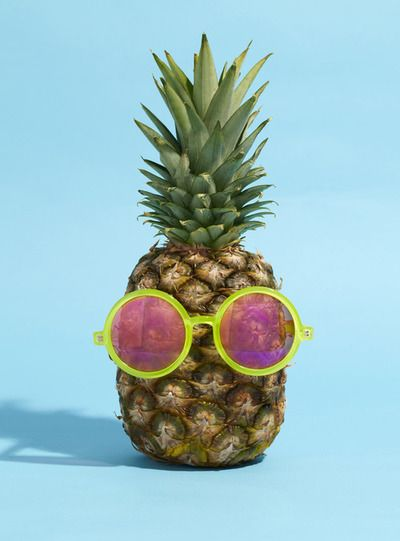 Pineapple in sunnies! Definitely going to be a centerpiece at my next pineapple party :)