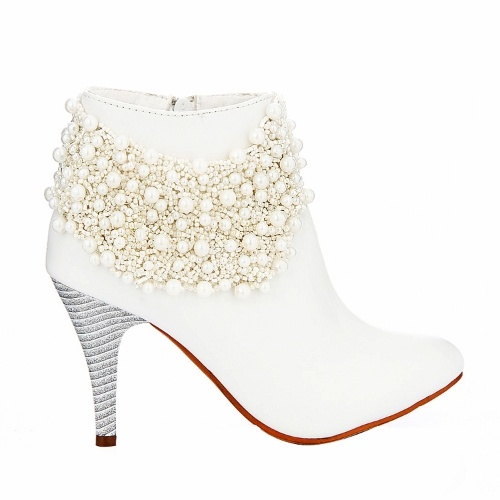 Designer White Leather High Heel For The Valentino Suit Find This Pin And More On Winter Wedding Shoes