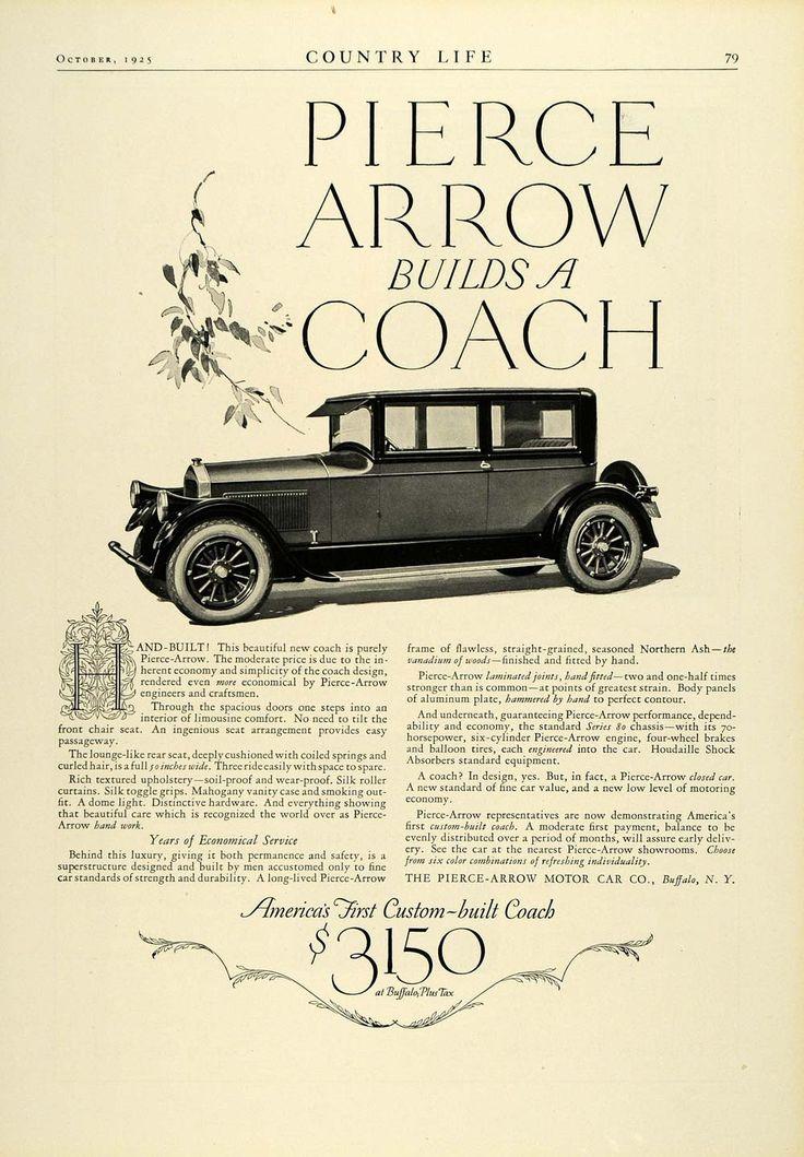 1925 Ad Pierce Arrow Motor Car Co Buffalo Ny Coach Vintage